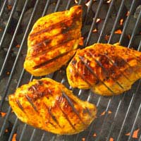 Barbecue Low Calorie Grill Fish